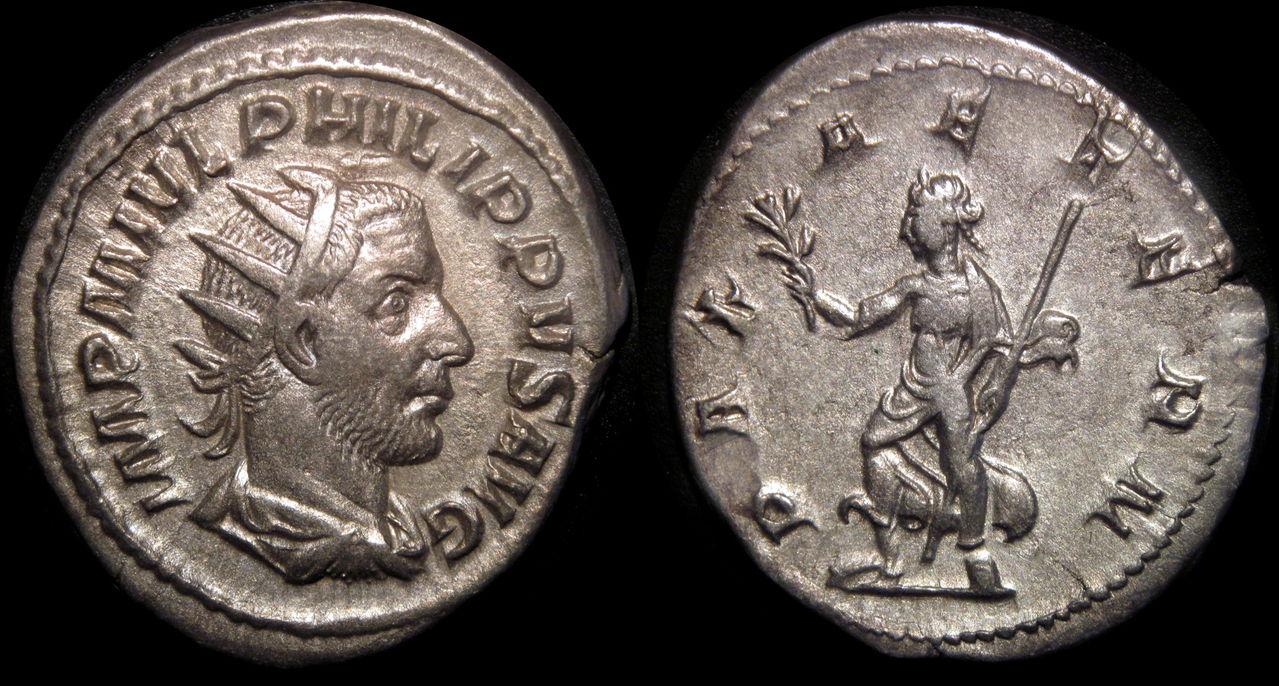 Antoniniano Filipo I. PAX AETERN. Ceca Roma. Filipo