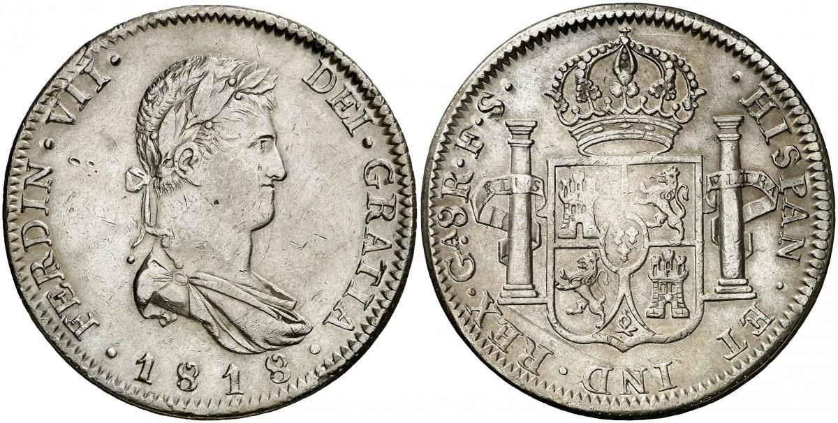 8 reales 1818 Guadalajara. Fernando VII. 1631914l