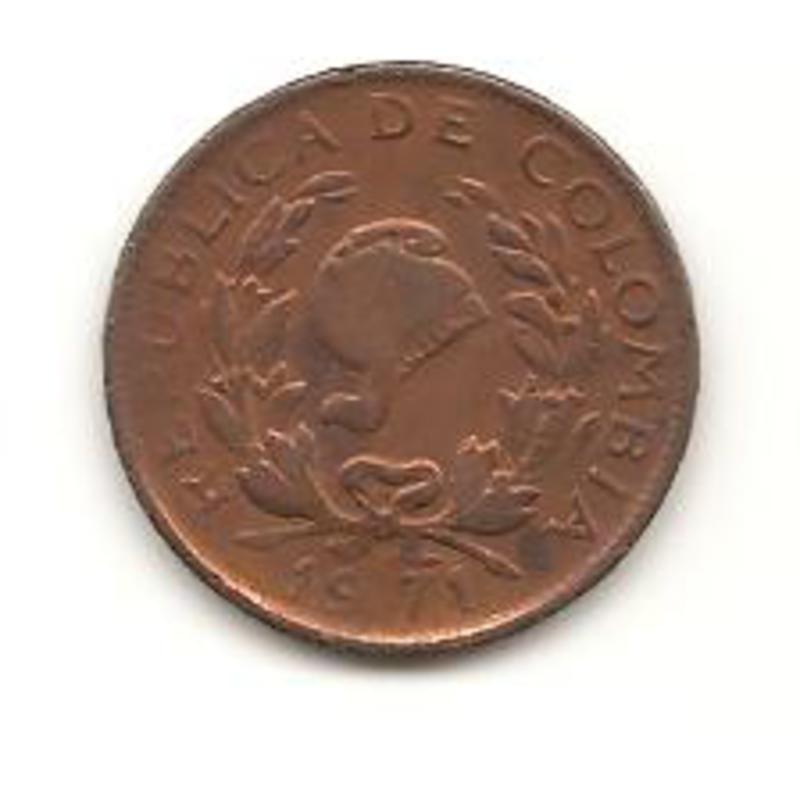 5 centavos de peso de 1971 Colombia Image