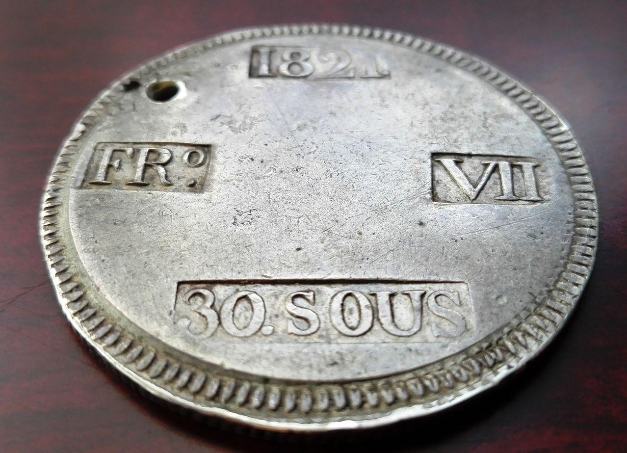 30 sous 1821 Fernando VII Palma de Mallorca 30_sous_1821_2
