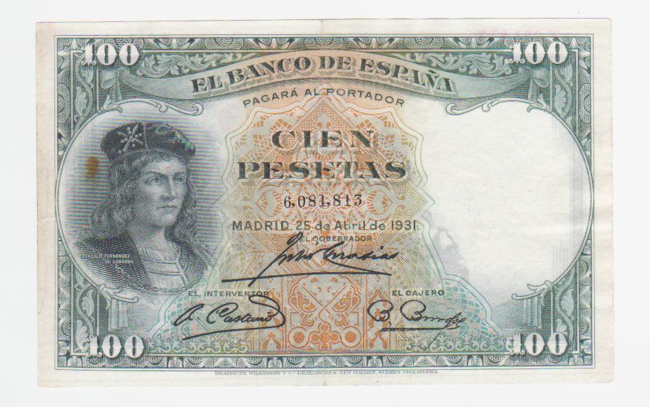 100 Pesetas 1931, verde (Color manipulado) 100_pesetas_1931_verde
