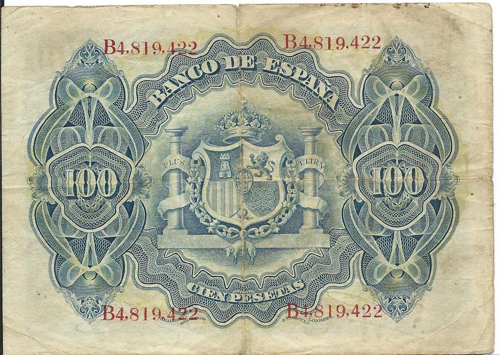 100 pesetas de 1906  Image