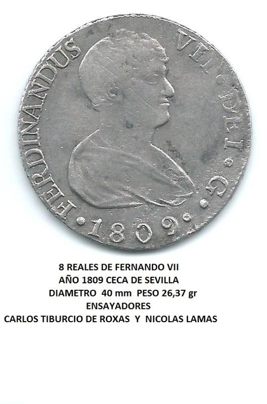 8 reales de Fernando VII 1821 Guadalaxara  Image