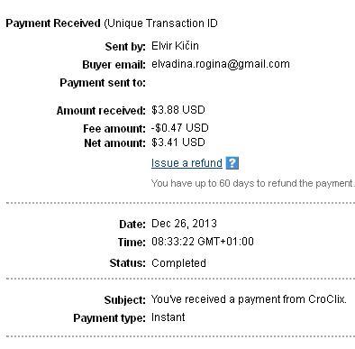 1º Pago de Croclix ( $3,88 ) Croclixpayment