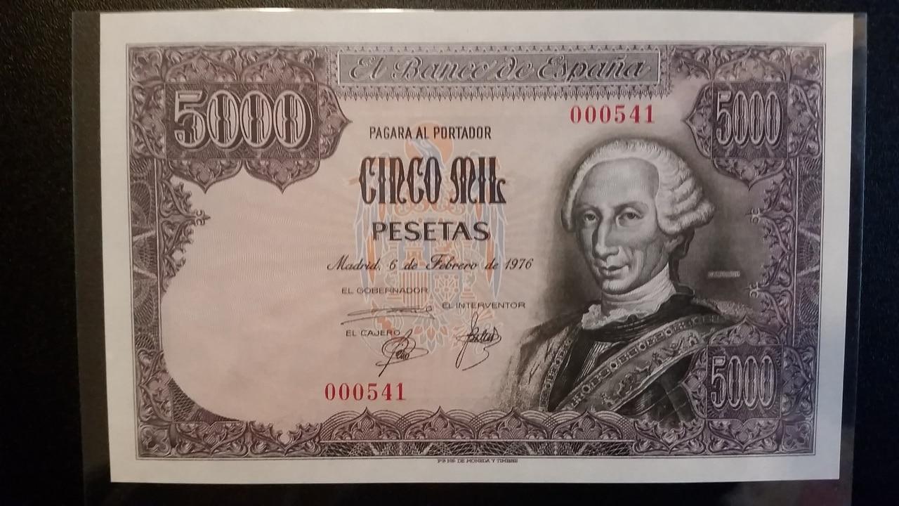 Colección de billetes españoles, sin serie o serie A de Sefcor pendientes de graduar 20161217_123408