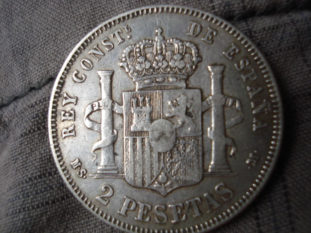 2 pesetas 1882/1 Alfonso XII DSC03462