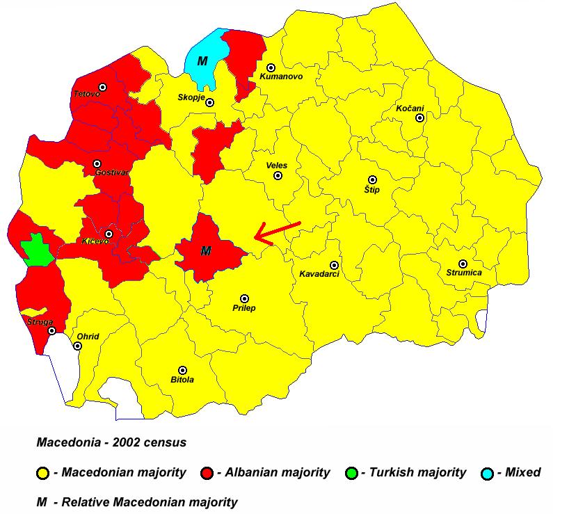 Pamja shqiptare e Maqedonise, dje, sot dhe neser Harta_3
