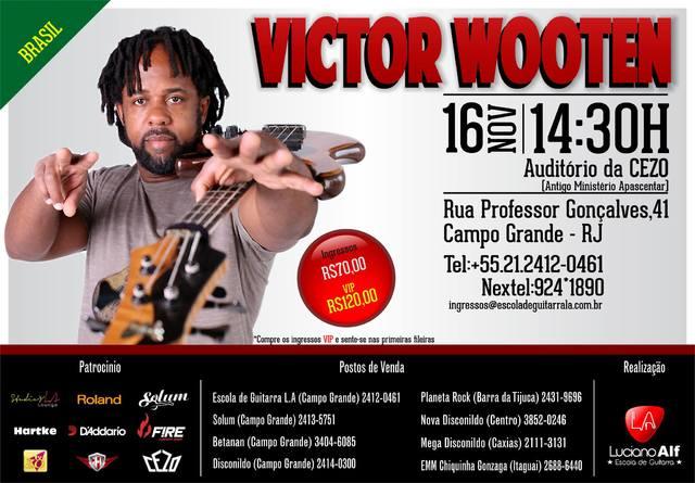 Workshop do Victor Wooten Rio de Janeiro - RJ. Work_Wooten_2