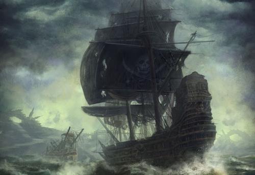 Gemi Başlığı: Queen's  Pirate_in_the_storm_by_peterconcept