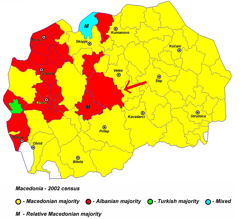 Pamja shqiptare e Maqedonise, dje, sot dhe neser Harta_4