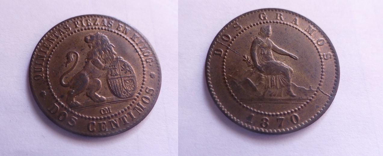2 céntimos 1870. Gobierno Provisional  IMG_3061