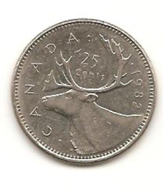 25 Cents. Canada. 1982  Image