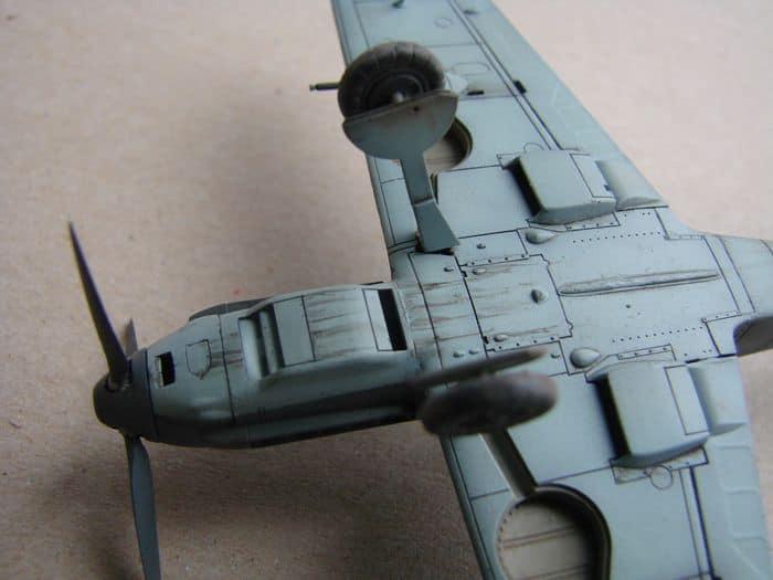 Bf-109E-3VVKJ, Tamiya, 1/72 DSC03076