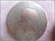 10 Centimes. Francia. 1854. París DSC04432
