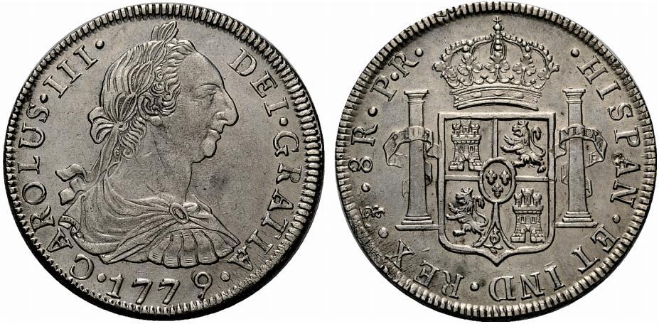 8 reales 1779 Carlos III Potosí - Dedicada a Mil monedas 932967