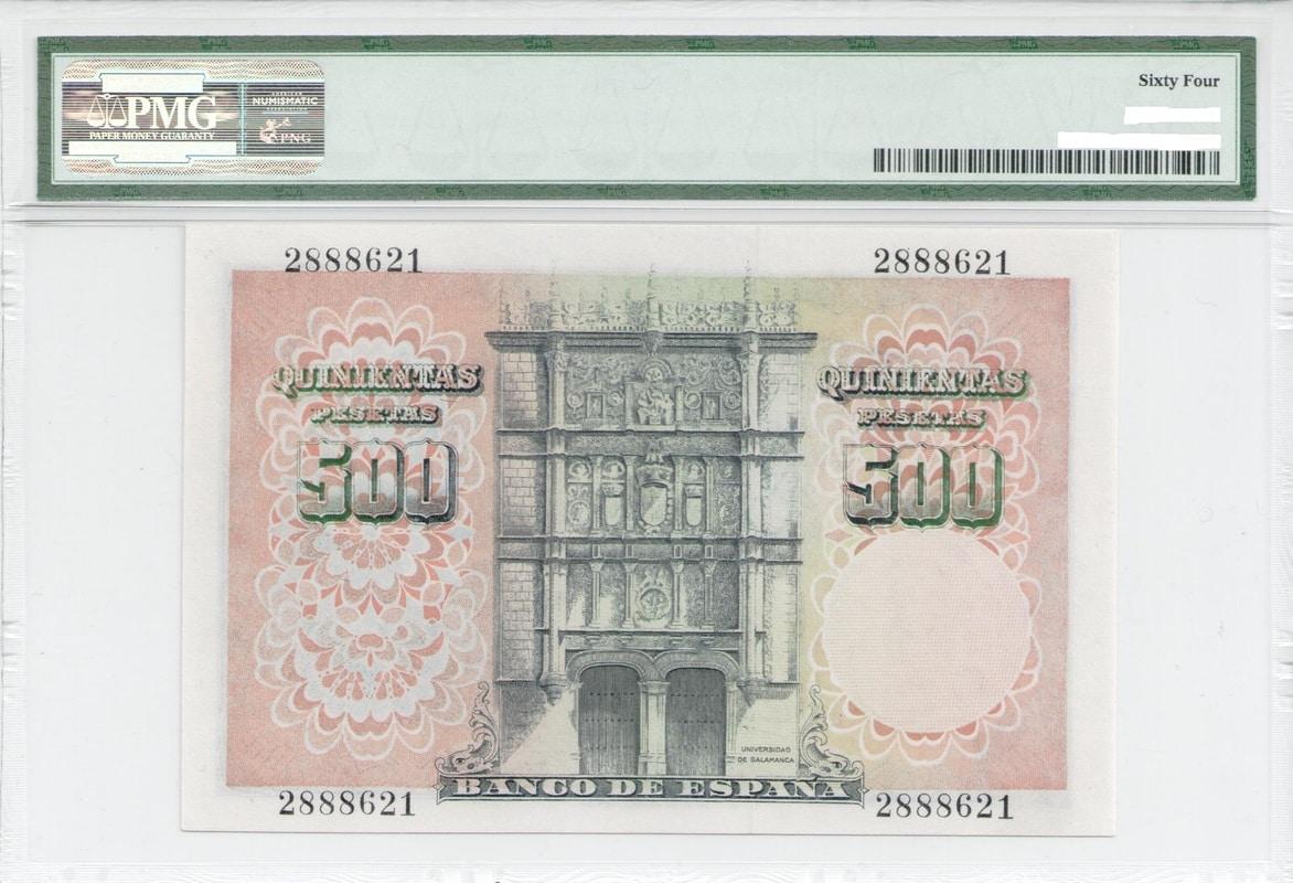 Colección de billetes españoles, sin serie o serie A de Sefcor - Página 3 500_del_46_reverso