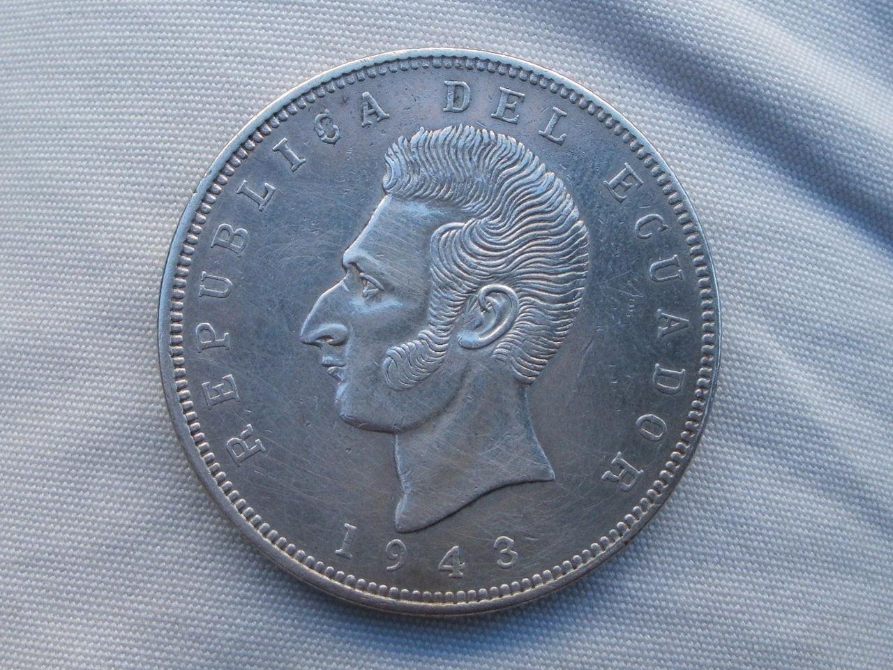 5 Sucres. Ecuador. 1943 Mexicana_2