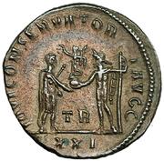 Antoniniano de Diocleciano. IOVI CONSERVATORI AVGG. Diocleciano y Júpiter. Ceca Tripolis. IMG_3814