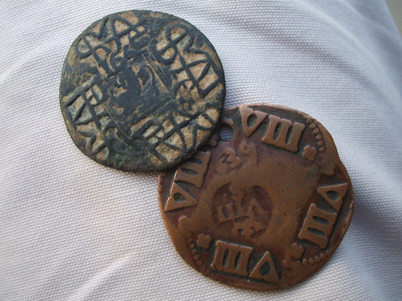 Prueba de punzón falso de época del resello del anagrama de 1658. Image