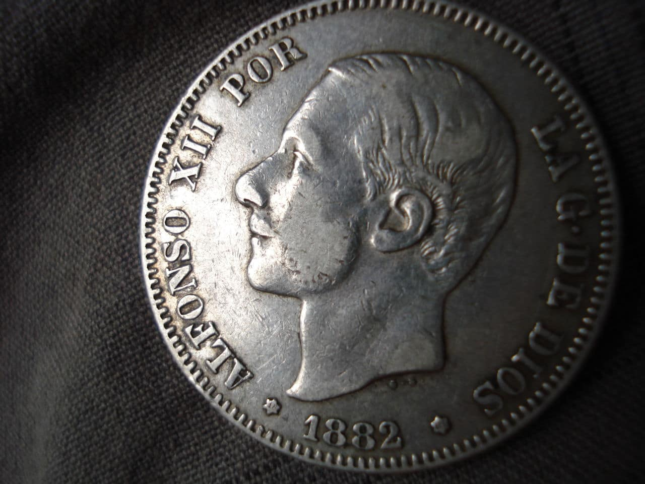 2 pesetas 1882/1 Alfonso XII DSC03463
