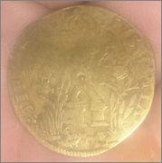 Jetón francés de Carlos IX. PIETATE ET IVSTITIA Cruz_2
