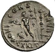 Antoniniano de Maximiano Hércules. IOVI CONS-ERVAT. Júpiter estante a izq. y mirando a dcha. Ceca Ticinum. Image