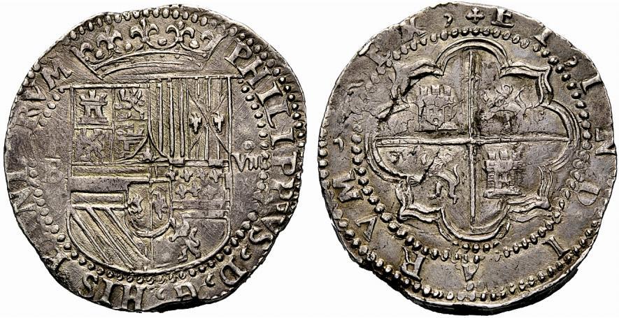 """8 reales de Felipe II. Potosí. Naufragio """"Nuestra Señora de Atocha"""" (dedicada a Marqués de la Ensenada) 592139_1"""