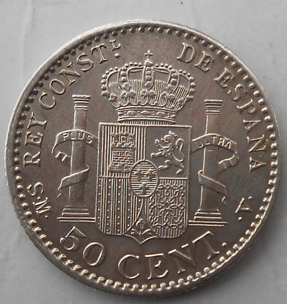 50 centimos Alfonso XIII 1904 * 0-4 50_cent_1904_rev