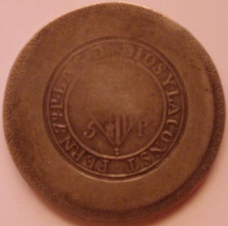Pasarela de moda numismática Fernandina en Palma: Crónica. 1823_A