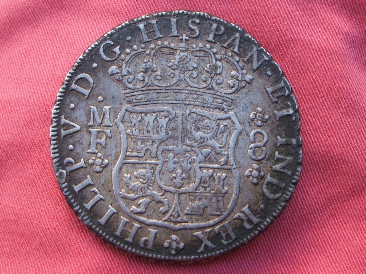 """8 reales """"columnarios"""" 1735. Felipe V. Méjico. Si_2"""