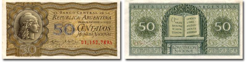 1 Peso Argentina, 1947 50_Centavos_Moneda_Nacional_A_B_1950