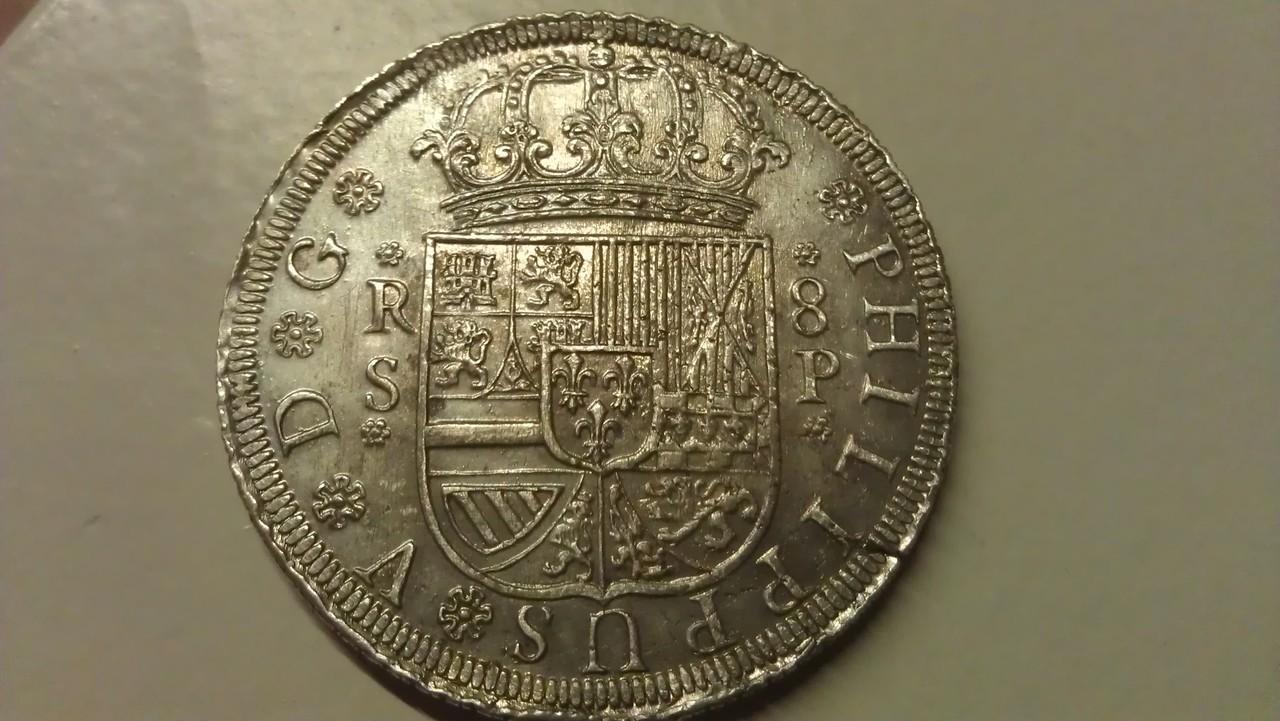 8 reales 1728. Felipe V. Sevilla. IMAG0444