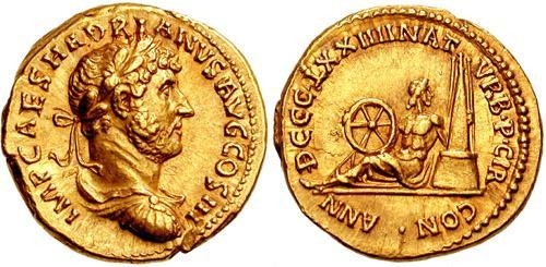 ¿Cuál fue la primera moneda en ser fechada? ¿Y la primera hispánica? RIC_0144
