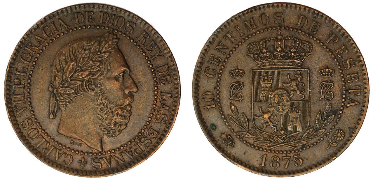 10 Céntimos de peseta 1875 Carlos VII 10_C_NTIMOS_CARLOS_VII_BRUSELAS_1875_M6298