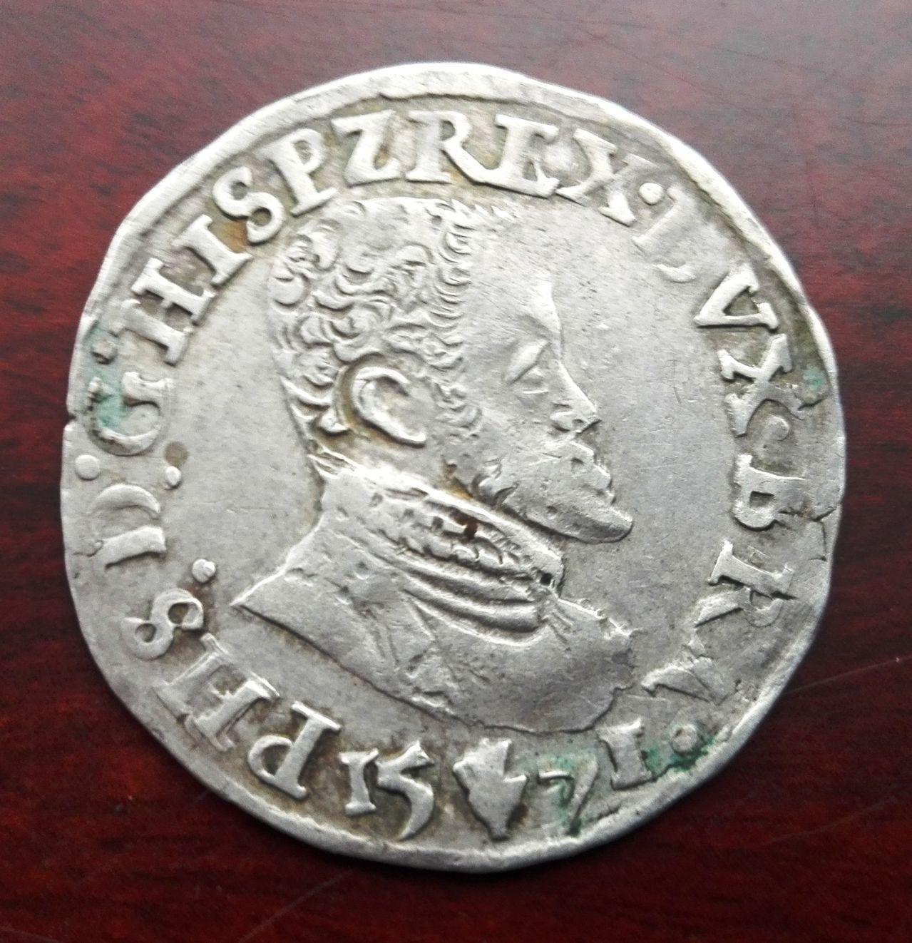 1/10 escudo Felipe de 1571, Amberes  IMG_20160317_162411