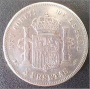 5 Pesetas 1888 Alfonso XIII- busto con cuello redondeado. 5_pesetas_a_o_1888_cruz