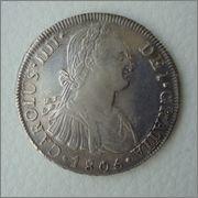 8 Reales 1805 Carolus IIII ME (Lima) Image
