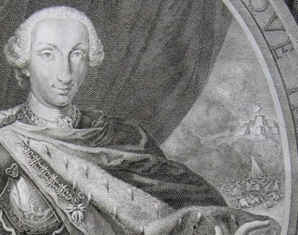 Grabado retrato de Carlos III de España. c.1760. Autor Filippo Morghen. A/A de Patricia. Image