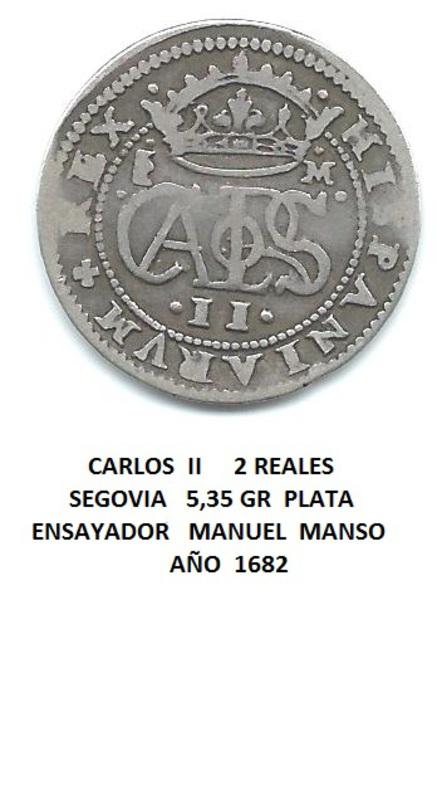 2 reales de Carlos II 1682 Image