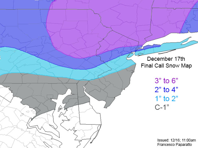 Saturday December 17th 2016 Snow Storm--SNOW MAPS ONLY Final_call_december_17th