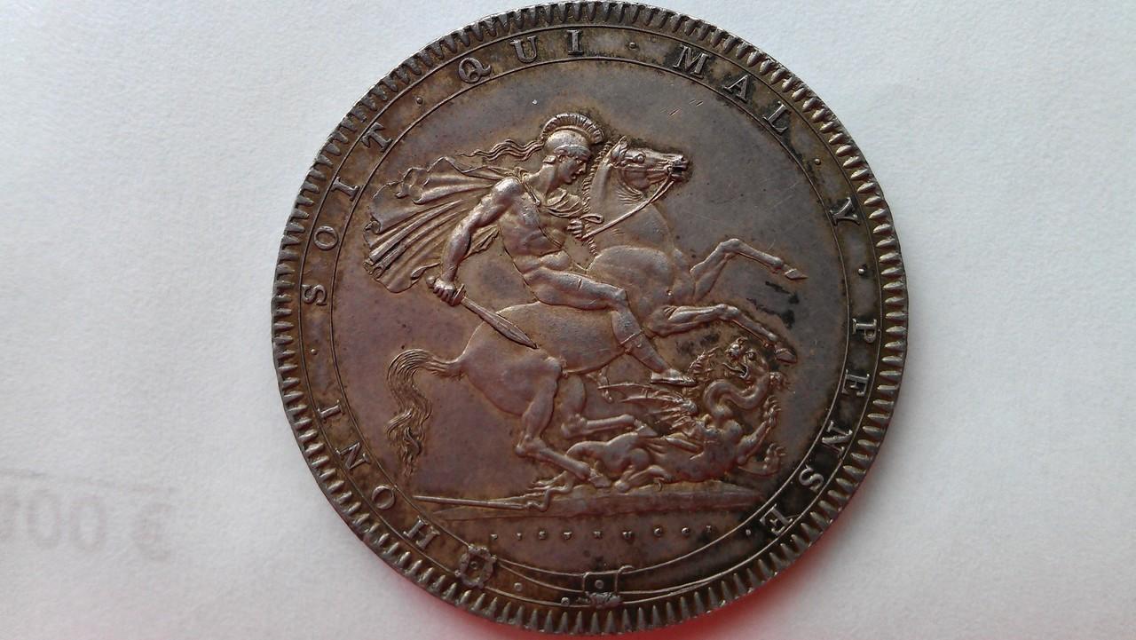 1 corona (crown) 1820  Georgius III   - Dedicada a mi amigo Emiliano IMAG1213