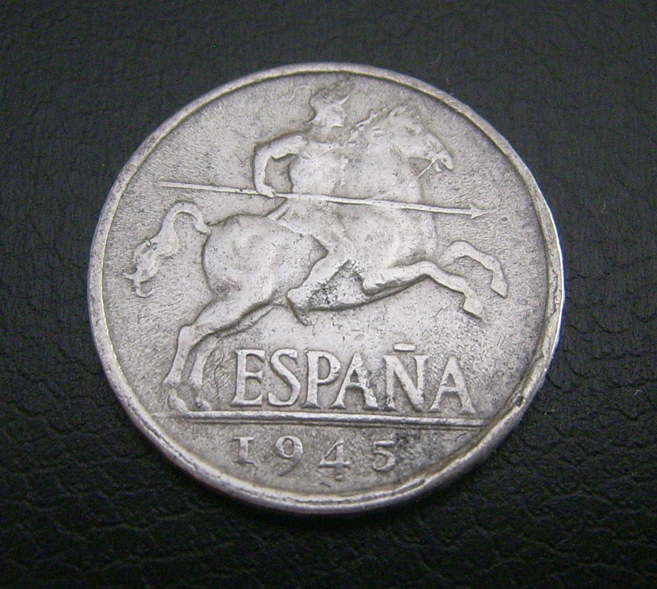5 Céntimos de .1945  Estado Español Dsci1188