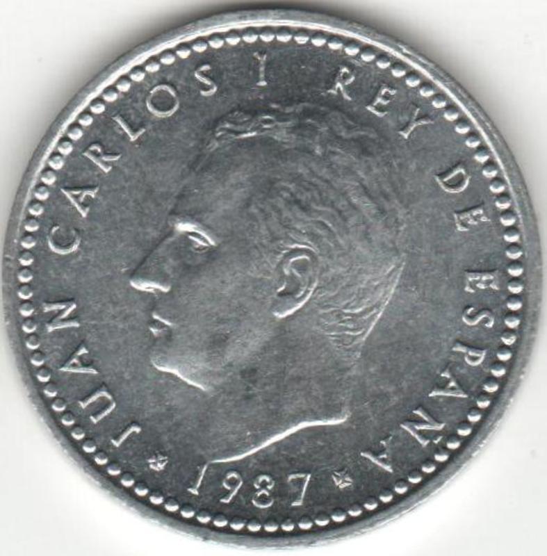 1 Peseta  1987. Juan Carlos I. ANVERSO_1_PESETA