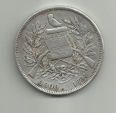 1 peso 1894 guatemala - 1 Peso. Guatemala. 1894 1peso_guatemala_1894_a