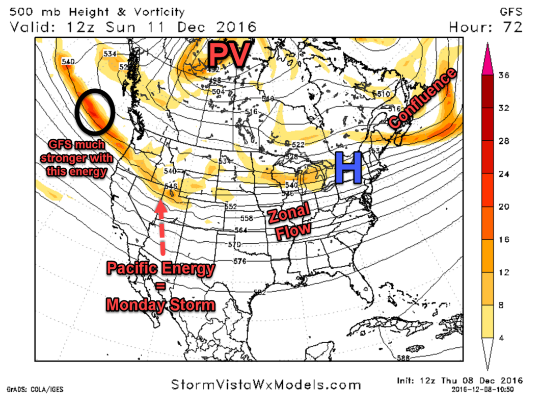 Monday 12/12 Storm Update #1 GFS_7am_Sunday