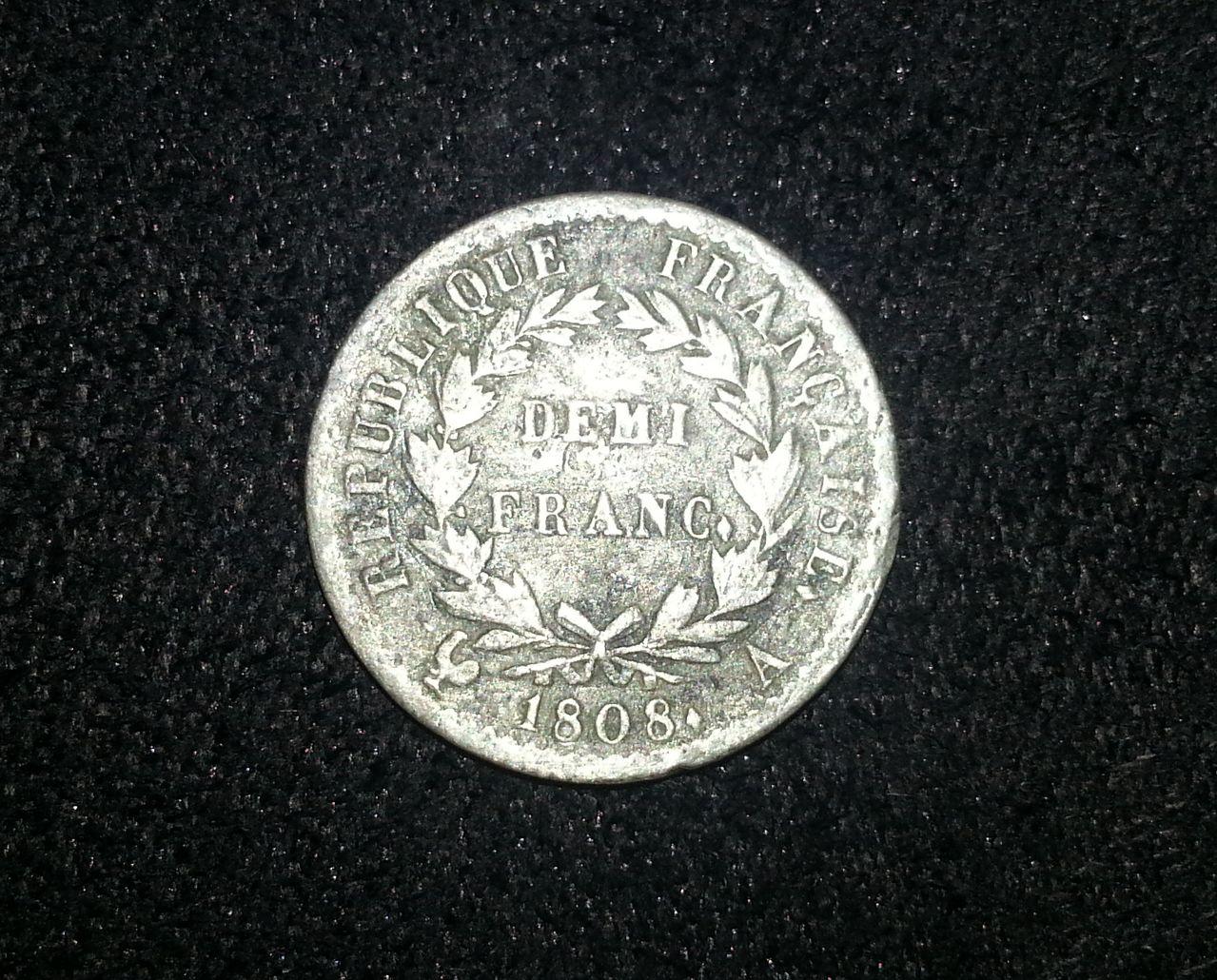 1/2 Franco de Napoleón Bonaparte. 1808. Paris. 20130904_004636