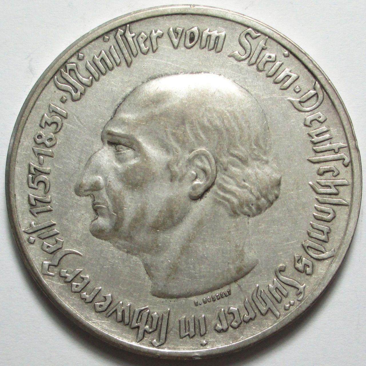 Monedas de emergencia emitidas por el banco regional de Westphalia N29b
