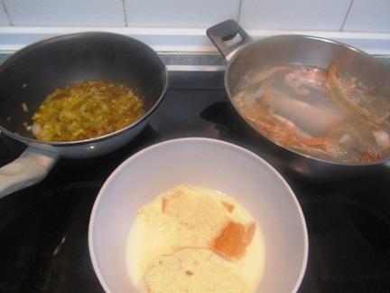 Budín (de verduras y de pescado) Budinpescaprep