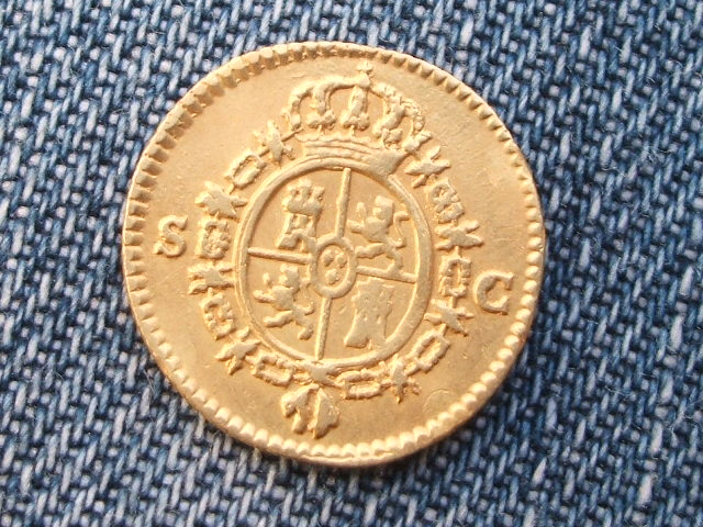 1/2 escudo 1788. Carlos III. Sevilla. Image
