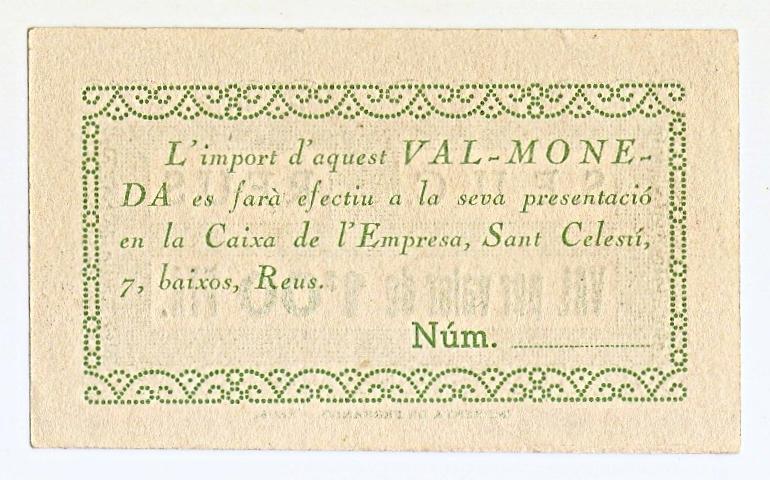 1 Peseta Reus 1937 (Serveis Electrics Unificats de Catalunya) Escanear0004a